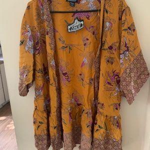 Peplum kimono